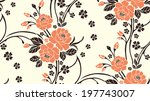 seamless pattern with beautiful ... | Shutterstock .eps vector #197743007