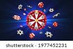 vector 3d fortune wheel with...   Shutterstock .eps vector #1977452231