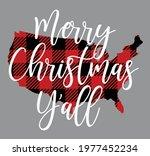merry christmas y'all vector...   Shutterstock .eps vector #1977452234