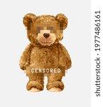 cartoon bear doll being... | Shutterstock .eps vector #1977486161