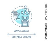 leave a legacy blue concept... | Shutterstock .eps vector #1977498401