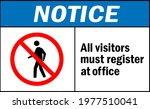 all visitors must register at... | Shutterstock .eps vector #1977510041