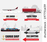world wide cargo transport... | Shutterstock .eps vector #197751659
