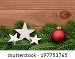 red xmas bauble | Shutterstock . vector #197753765