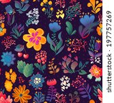 flowers seamless pattern... | Shutterstock .eps vector #197757269