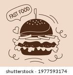 fast food burger takeaway... | Shutterstock .eps vector #1977593174
