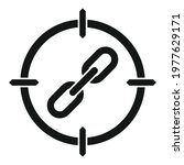 aim backlink strategy icon.... | Shutterstock .eps vector #1977629171