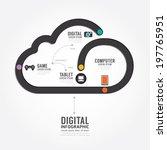 infographic technology digital... | Shutterstock .eps vector #197765951