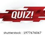 quiz word concept vector...