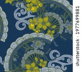 beautiful seamless pattern with ... | Shutterstock . vector #1977699881