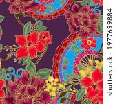 beautiful seamless pattern with ... | Shutterstock . vector #1977699884