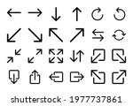 set of 24 arrow icons in linear ...   Shutterstock .eps vector #1977737861