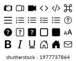 set of 24 icons in linear style ...   Shutterstock .eps vector #1977737864