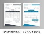 simple invoice design template... | Shutterstock .eps vector #1977751541