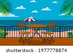chairs and tables at the...   Shutterstock .eps vector #1977778874