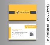 yellow design business card... | Shutterstock .eps vector #1977859967
