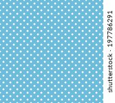 seamless blue polka dot... | Shutterstock .eps vector #197786291