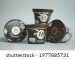 Small photo of Samut Prakan, Thailand - May 22, 2021 : The new magnum mini cup of Magnum Classic ice cream one of the ice cream brands of Unilever Group, the world's largest ice cream maker.