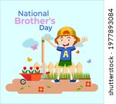 national brother's day on may 24   Shutterstock .eps vector #1977893084
