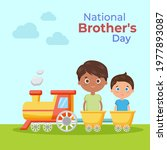 national brother's day on may 24   Shutterstock .eps vector #1977893087