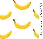 bananas seamless vector pattern....   Shutterstock .eps vector #1977966794