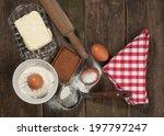 baking cake in rural kitchen  ... | Shutterstock . vector #197797247