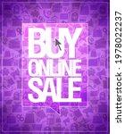 buy online sale banner template ... | Shutterstock . vector #1978022237