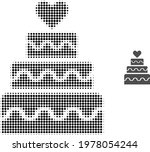marriage cake halftone dotted...   Shutterstock .eps vector #1978054244
