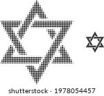 David Star Halftone Dot Icon...