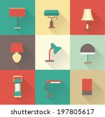 lamps styles | Shutterstock .eps vector #197805617