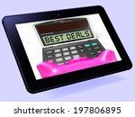 best deals calculator tablet... | Shutterstock . vector #197806895