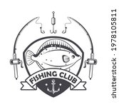 fishing emblem with fish and...   Shutterstock .eps vector #1978105811