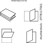folded paper icon isolated on...