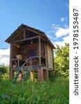 An Old Wooden Storage Hut In...