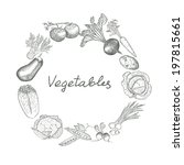 vegetables. hand drawing set of ... | Shutterstock .eps vector #197815661