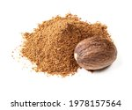 Handful Of Whole Nutmeg Seed...