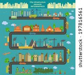 set of modern city elements for ...   Shutterstock .eps vector #197816561