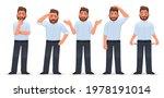 set of character man in... | Shutterstock .eps vector #1978191014