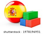 Cargo Containers With Spanish...