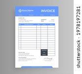 blue header invoice design... | Shutterstock .eps vector #1978197281