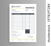 simple business invoice design... | Shutterstock .eps vector #1978197284