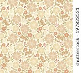 Beige Seamless Floral Pattern....