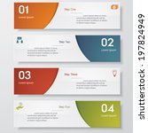 design clean number banners... | Shutterstock .eps vector #197824949