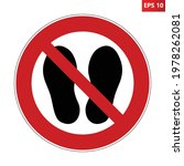 do not walk or stand here... | Shutterstock .eps vector #1978262081