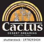 cactus desert dreamin line... | Shutterstock .eps vector #1978293434