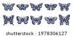 butterfly silhouette set.... | Shutterstock .eps vector #1978306127