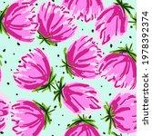 pink rose drawing vector...   Shutterstock .eps vector #1978392374
