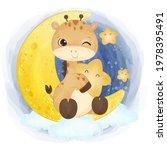adorable little giraffe in...   Shutterstock .eps vector #1978395491