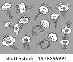 comic speed clouds. cartoon...   Shutterstock .eps vector #1978396991