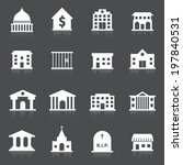 government building icons set... | Shutterstock . vector #197840531